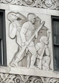 Image for 333 North Michigan Avenue Building Panels: The Attack on Fort Dearborn - Chicago, IL