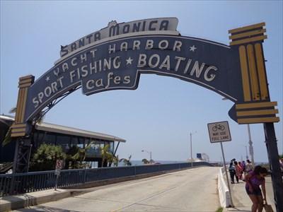 veritas vita visited Santa Monica Pier Sign