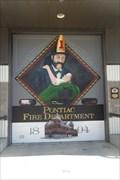 Image for Pontiac Fire Department Garage Door Mural  -  Pontiac, IL