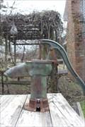 Image for Gano House short green pump -- Dallas Heritage Village, Dallas TX