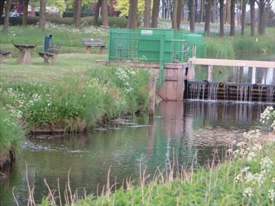 Esvelderbeek with Fish Ladder exit at left