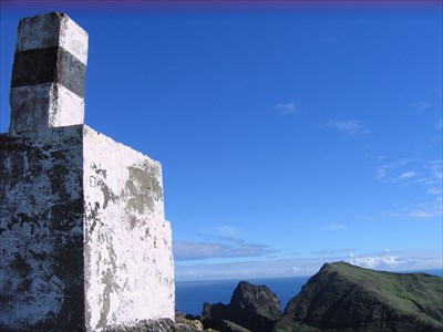 The summit was limited so it was difficult to get a picture of the trig point that showed the background scenery