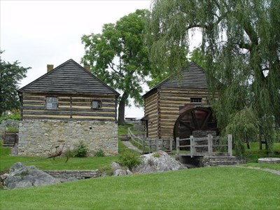 The McCormick Farm and Grist Mill is where Cyrus McCormick invented the first reaper.
