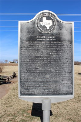 Texas Historical Marker to greet you as you come into Burkburnett along TX 240 from the north.