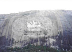 View of Stone Mountain carvings from the train ride, by MountainWoods