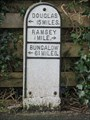Image for White cast-iron Milestone on May Hill (A18) - Ramsey, Isle of Man