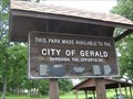 Image for City Park Sign - Gerald, MO