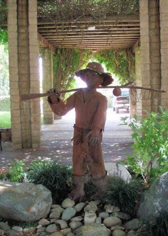 Boy With Fishing Pole Sierra Madre Ca Figurative