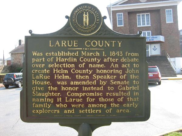 larue county Larue county, kentucky facts larue county, kentucky genealogy and family history research find links to record collections, history, and genealogy resources to help you trace your larue.