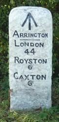 Image for Milestone - A1198, Ermine Street, Arrington, Cambridgeshire, UK.