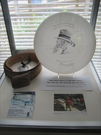 Disc Containing Ed's Cremated Ashes, IDGC, Appling, Georgia
