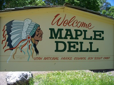 Sign at the front of Maple Dell