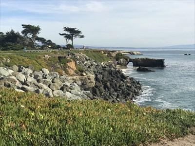 View of West Cliff Arch Looking East, Santa Cruz, California