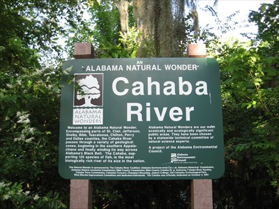 Cahaba River sign.