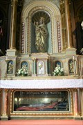 Image for Mary Queen of Heaven, and St. Justinus -- Mary Altar, Shrine of St. Joseph, St. Louis MO