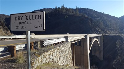 north end of Dry Gulch Bridge