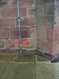 Image for Cut Bench mark on St Lukes Church, Holmes Chapel, Cheshire