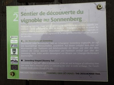 trail sign at Sonnenberg