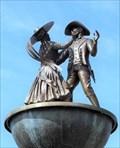 Image for Gunzenhausen Platz Fountain - Dancers - Frankenmuth, Michigan, USA.