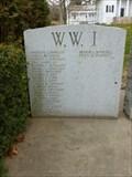 Image for Westhampton World War I Honor Roll - Westhampton, MA.