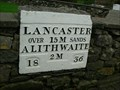 Image for Painted milestone Cartmel.