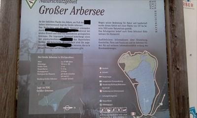 Habe von der Infotafel am Arbersee ein Foto gemacht, die für den EC nötigen Informatioen aber geschwärzt.