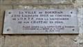 """Image for Plaque """"Chefs d'Oeuvre en péril"""", Château de Dourdan, Essonne, France"""