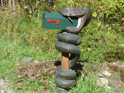 Snake Swallowing Mailbox Themed Homemade Mailboxes On