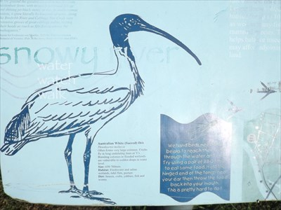 The section of the sign next to the Wetlands (and Playground) of Forest Park,