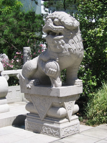 Two Chinese Lions At Portland Classical Chinese Garden, Oregon   Lion  Statues On Waymarking.com