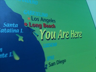 You Are Here Map Aquarium Of The Pacific Southern