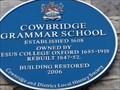 Image for Grammar School - Blue Plaque - Cowbridge, Vale of Glamorgan, Wales.
