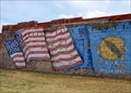 Image for American Flags Mural - Erick, Oklahoma, USA.