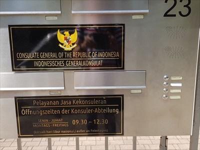 Indonesisches Generalkonsulat - Tafel