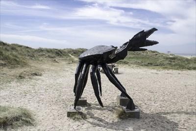Skulpturen Krabben ved Slette strand