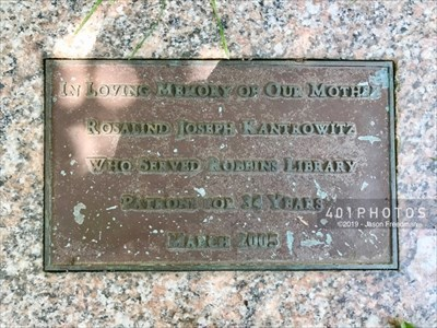 The dedication plaque reads: <br><br>