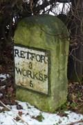 Image for Mile Stone - Straight Mile, Ranby, Nottinghamshire, UK.