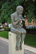 "Image for ""Baigneuse assise regardant une libellule"" - Strasbourg, France"