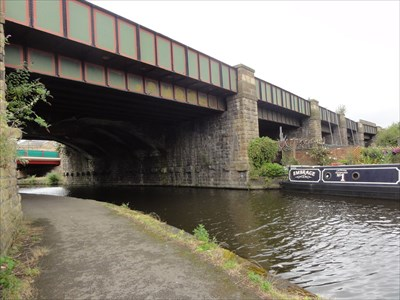 Some of the other spans can be seen in the direction of the River Don.
