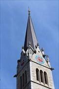 Image for Clock on Cathedral of St. Florin - Vaduz, Liechtenstein