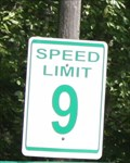 Image for Speed Limit Sign at Farma Family Campground (9 MPH) - Greenville, PA