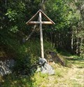 Image for Wooden Cross at a Rural Road North of Town - Mund, VS, Switzerland
