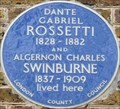 Image for Dante Gabriel Rossetti and Algernon Charles Swinburne - Cheyne Walk, London, UK