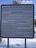 Image for Clear Lake Municipal Cemetery - Clear Lake, Iowa