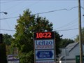 Image for Lietao Insurance and Realty Time and Temperature Sign - Ludlow, MA