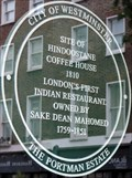 Image for London's First Indian Restaurant - George Street, London, UK