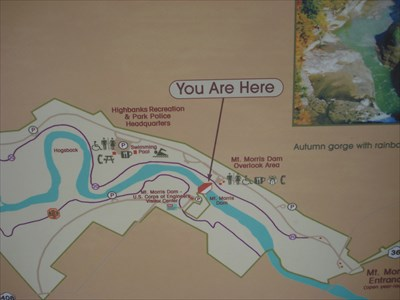 You Are Here At Mt Morris Dam Overlook Area Letchworth