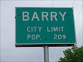 Image for Barry, TX - Population 209
