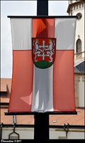 Image for Levoca - municipal flag at the Municipal Office / vlajka mesta u Mestskeho úradu (North-East Slovakia)