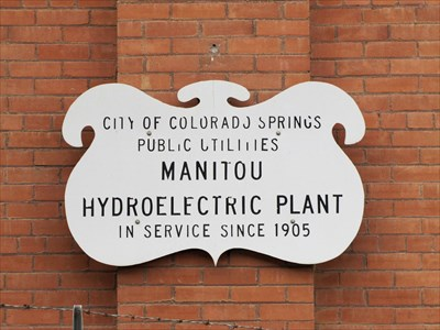 Sign Outside of Manitou Hydroelectric Plant